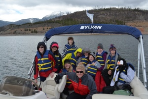 H2O campers tour Dillon Reservoir.