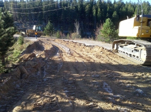 A Denver Water crew has spent weeks in Coal Creek Canyon, near Gross Reservoir, repairing washed-out roads like this one.
