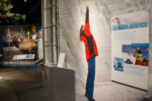 How much water content is in that snowpack? See for yourself with this fun display in the Living West exhibit.