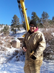Brandon Ransom, Denver Water's new recreation manager oversaw the operation to move the monument on Dec. 9, 2013.