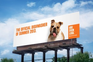 One of our 2013 billboards reminding customers to Use Even Less.