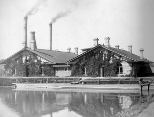 This 1899 photo shows Denver Water's pumping station that is now called Three Stone Buildings.