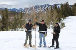 Snowpack readings in March are double where they were at this time last year.