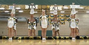 Bear Creek High School's cheerleading squad show's off their water-saving cheer: It's all connected.