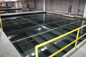Moffat Water Treatment Plant has 28 filters. The tests using the pilot plant will determine the size and number of filters needed in the new North System Renewal Treatment Plant.