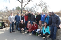 Denver Water's conservation team toured Denver Zoo in March to learned about water-saving efforts.