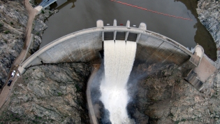 Strontia Springs Reservoir started spilling on May 2. Between 1,200 and 1,700 cubic feet per second has been flowing out of the spillway since that time.