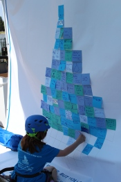 Adults and children contributed their passion for water to help us create Post-it art this summer.