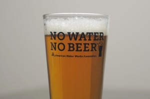 American Water Works Association reminds beer lovers of the importance of water with every sip.
