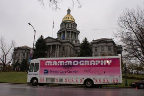 To schedule a mobile mammography van event, click here. Photo courtesy of Saint Joseph Hospital.