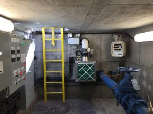 This photo shows a recently upgraded Denver Water vault.