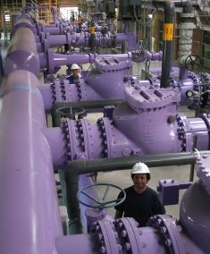 Purple, which has become the international symbol for recycled water, is used on valve boxes, manhole covers, newer sprinkler heads and even the pipes inside our Recycling Plant.