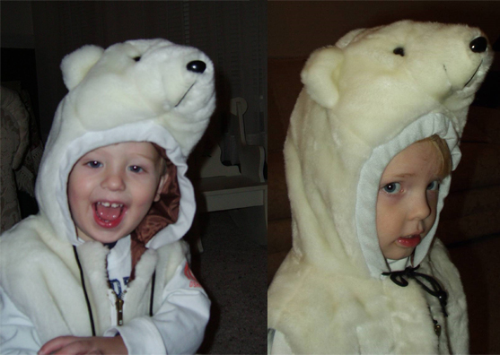 As toddlers, the author's son (left) and daughter dressed in daddy's favorite costume for Halloween.