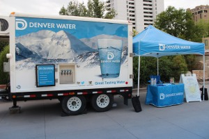 Denver Water's water trailer supplies high-quality, ice-cold water to large, outdoor, public events.