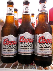 """The Coors Light label reads, """"When the mountains turn blue it's as cold as the Rockies,"""" but that doesn't mean it was brewed in the Rockies. Photo credit: Rob Nguyen, Flickr Creative Commons"""