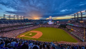 Coors Field, home of the Colorado Rockies, where, in 2015, a Coors Light (complete with souvenir cup) went for $8.50. Now that's a premium price. Photo credit: Al Case, Flickr Creative Commons