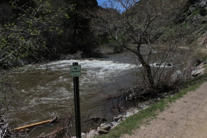 Denver Water has closed access to the South Platte River in the lower portion of Waterton Canyon due to high water.