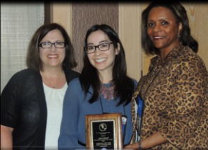 (Left to right) Denise Knoblauch, ABOHN executive director; Jessica Thompson; Wanda Smiling, ABOHN board of directors, at the national conference where Thompson was presented the award.