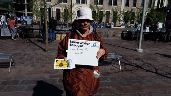 """""""I save water because I am from the desert."""""""