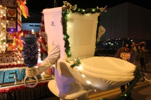 The Running Toilet, pictured here at the 2015 9News Parade of Lights, has been a staple of Denver Water's Use Only What You Need campaign.