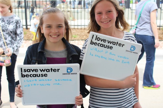 """I save water because water saves me."" ""I love water because without it there wouldn't be anything living on earth."""
