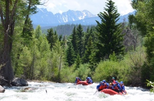 Whitewater rafting through the spectacular alpine scenery beneath The Eagles Nest Wilderness area on the Blue River. Photo courtesy of Performance Tours Whitewater Rafting.