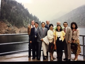 The first Taiwanese delegation to visit Strontia Springs Dam in 1991. (photo courtesy of Lucy Guo)