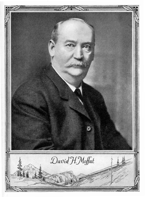 David Moffat (1839-1911) spent an estimated 14 million dollars building the railroad to Rollins Pass.