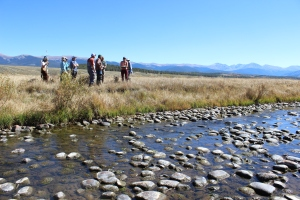 Members of Learning By Doing tour the Fraser Flats on Sept. 27