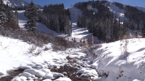 Arapahoe Basin uses water from the North Fork of the Snake River to make snow.