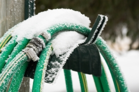 Disconnect your hose before it freezes.