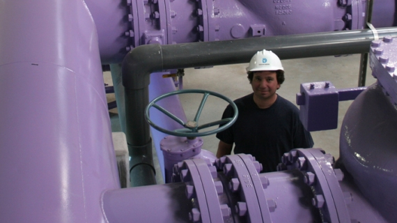 Water treatment plant supervisor David Brancio